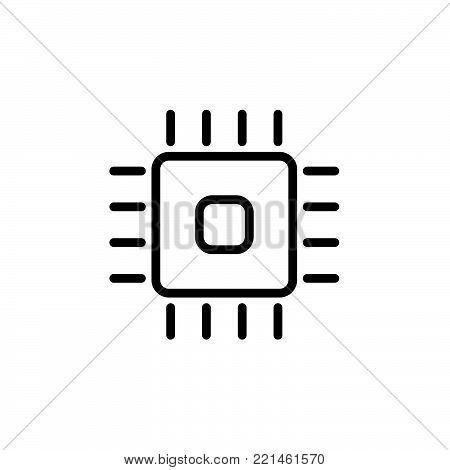 Cpu vector icon, Vector EPS 10 illustration style