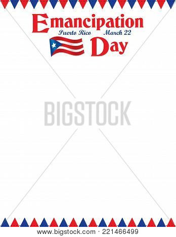 Puerto Rican Emancipation Day with flags letterhead poster