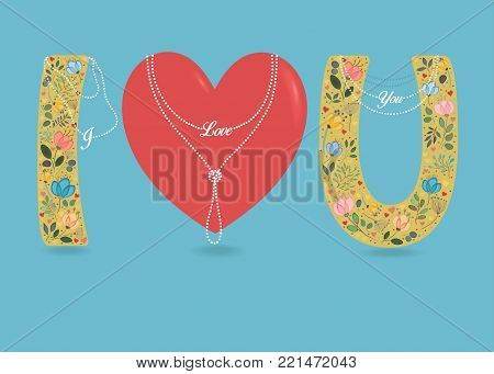 Love You Big Red Vector Photo Free Trial Bigstock