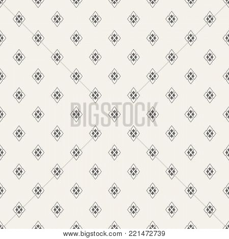 Abstract seamless pattern. Regularly repeating geometrical tiles of rhombuses. Modern stylish texture. Repeating geometric tiles. Vector background.