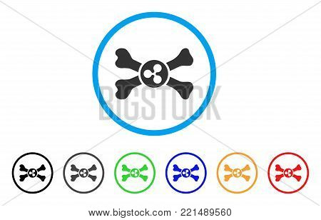 Ripple Death rounded icon. Style is a flat grey symbol inside light blue circle with bonus colored variants. Ripple Death vector designed for web and software interfaces.