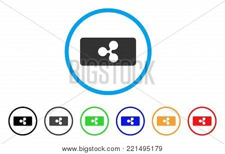 Ripple Bill rounded icon. Style is a flat grey symbol inside light blue circle with bonus colored variants. Ripple Bill vector designed for web and software interfaces.