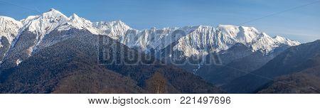 The Main Caucasian (Watershed) Range is a continuous mountain range stretching more than 1100 km from the northwest to the southeast of the Black Sea