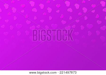 Falling fading vivid pink hearts background illustration