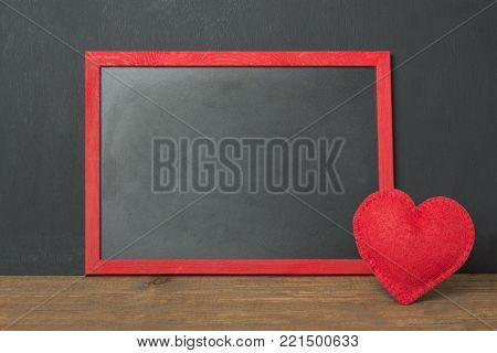 Romantic Dinner Concept. Festive Table Setting For Valentines Day On Wooden Background. Red Rose And