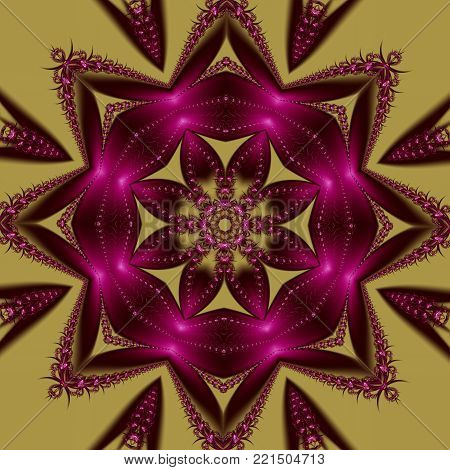 Beautiful background with floral and geometrical ornament. You can use it for invitations, notebook covers, phone cases, postcards, cards, ceramics, carpets. Artwork for creative design and art.
