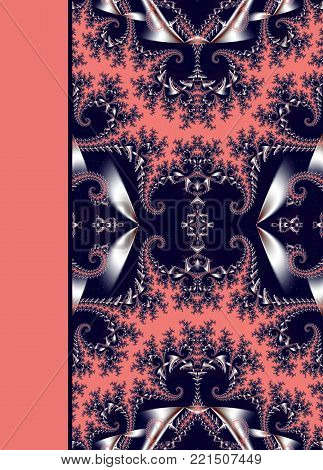 Notebook cover with beautiful spiral pattern in fractal design.