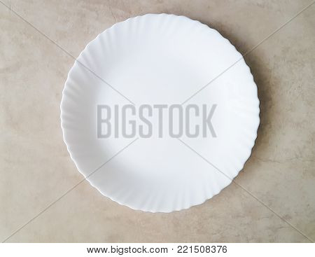 white empty, a plate of marble domestic, horizontal, view, overhead, marble, template, ware,