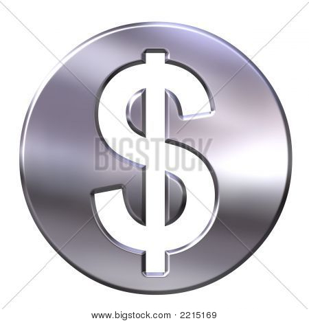 3D Silver Dollar Currency