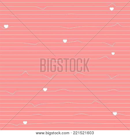 Valentines day hearts seamless pattern background love typography holiday romantic wedding gift card vector illustration. Romance valentine heart greeting label. February cupid marriage shape.