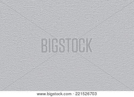 A white primed cotton canvas texture background