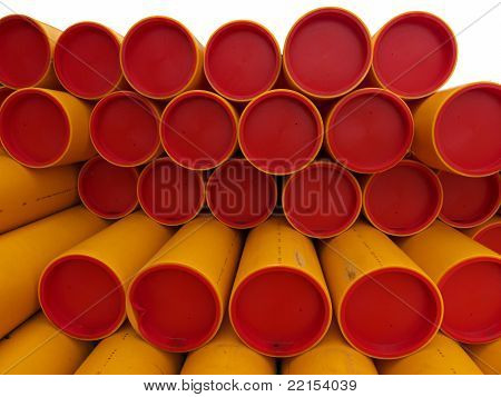 red lits, yellow pipes