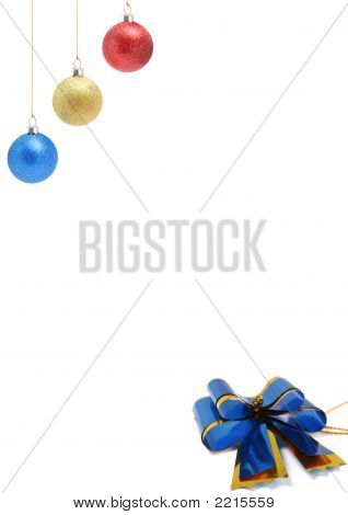 New Year's Decorations Of Red Yellow And Blue Color 1