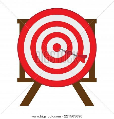 Target shooting game on a white background, Vector illustration