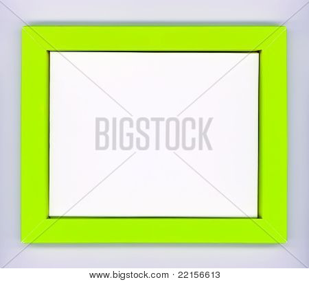Empty green paper frame