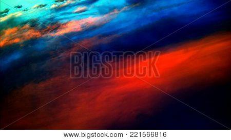 Colorful irregular shape red, blue and black background