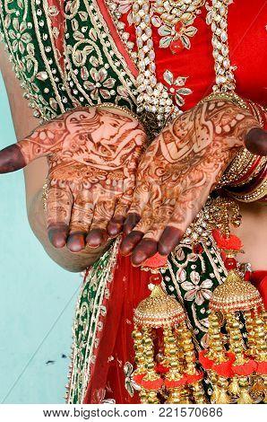 Bridal Hand's Mehandi Design in Indian Wedding