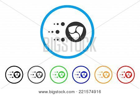 Fast Nem Transfer rounded icon. Style is a flat gray symbol inside light blue circle with bonus color variants. Fast Nem Transfer vector designed for web and software interfaces.