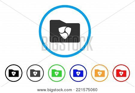 Nem Catalog rounded icon. Style is a flat gray symbol inside light blue circle with bonus colored versions. Nem Catalog vector designed for web and software interfaces.