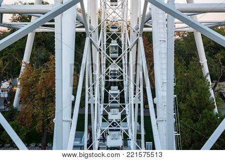 ROSTOV-ON-DON, RUSSIA - CIRCA OCTOBER 2016: The One Sky Ferris Wheel in Rostov-on-Don, popular tourist attraction.
