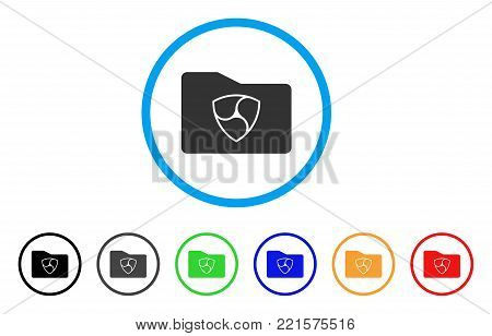 Nem Wallet rounded icon. Style is a flat grey symbol inside light blue circle with additional colored variants. Nem Wallet vector designed for web and software interfaces.
