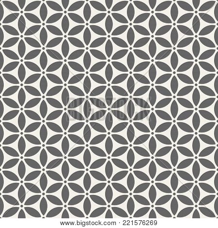 Abstract seamless pattern. Modern stylish texture. Repeating geometric shapes. Stylized flower pattern. Vector background.