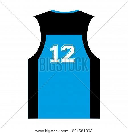 Isolated sleeveless with number on a white bacground, vector illustration