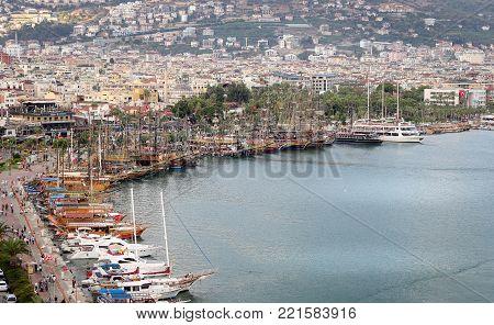 Tour Boat In Alanya Port