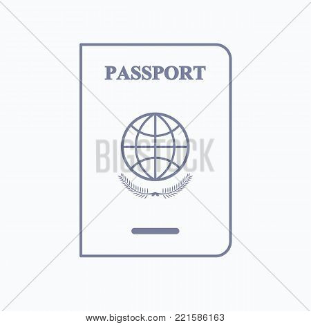 Immigration services passport icon. Line illustration of immigration services passport vector icon logo isolated on white background