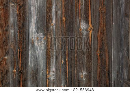 Brown, grey, wooden, blank, vintage backdrop. Space for text, abstract, close up view with details.