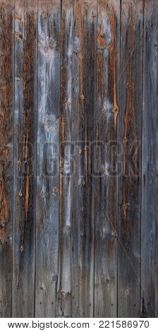 Grey, wooden, brown, blank, vintage backdrop. Space for text, abstract, close up view with details.