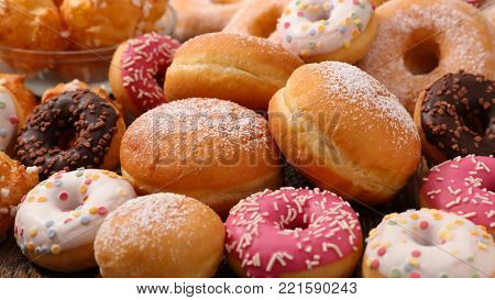assorted donut and cake