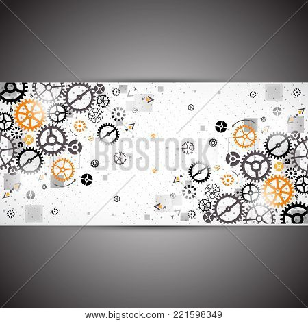 Abstract technology background. Cog wheel theme. Vector illustration