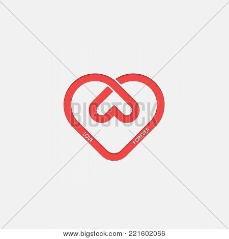 Heart icons vector logo design template.Love symbol.Valentine's Day sign.Emblem isolated on white background.Vector illustration