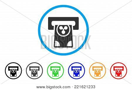 Ripple Card Terminal rounded icon. Style is a flat gray symbol inside light blue circle with bonus colored versions. Ripple Card Terminal vector designed for web and software interfaces.