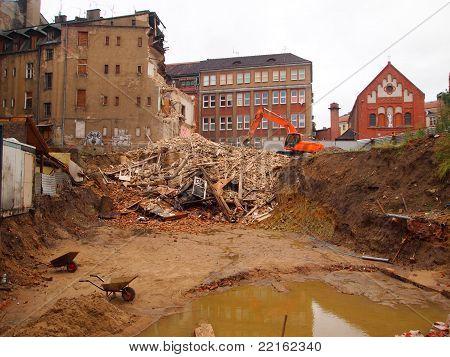 old building demolition