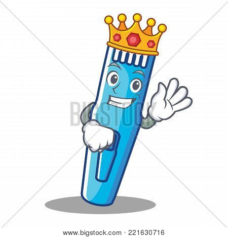 King trimmer mascot cartoon style vector illustration