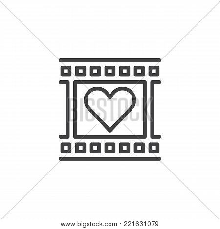 Film Reel Heart Frame Vector & Photo (Free Trial) | Bigstock
