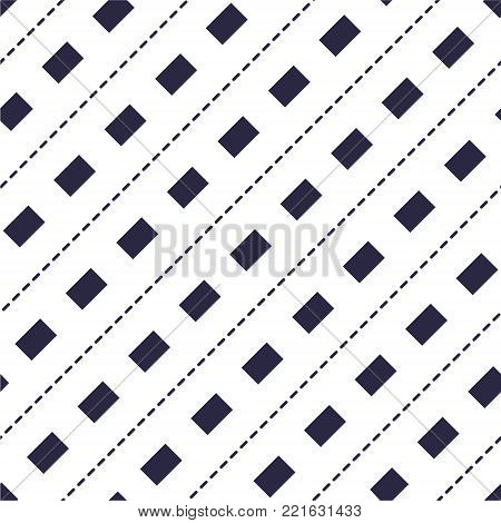 Minimal dashed lines vector seamless pattern, abstract background. Simple geometric design. Seamless lines vector minimalistic pattern, abstract background. Simple geometric design. Diagonal parallel stripes.