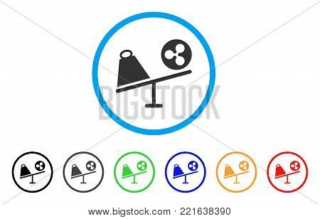 Ripple Trade Swing rounded icon. Style is a flat grey symbol inside light blue circle with additional color versions. Ripple Trade Swing vector designed for web and software interfaces.
