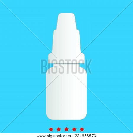 Eye drops icon  Different color  It is imple style  .