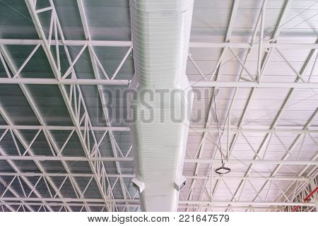 Building interior air duct, Air condition pipe line system air flow industrial design