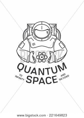 It's a spaceman holding between his hands an atom representing space and infinite galaxies to discover