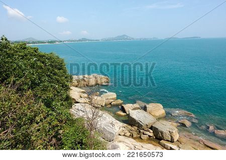 Lad Koh Viewpoint. Look out ocean side. Koh Samui, Thailand