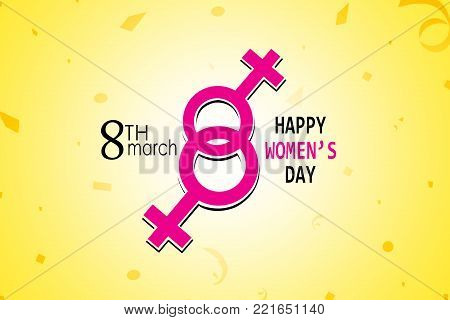 International Women's Day Poster. Woman Sign. Origami Design Template. Happy Mother's Day.