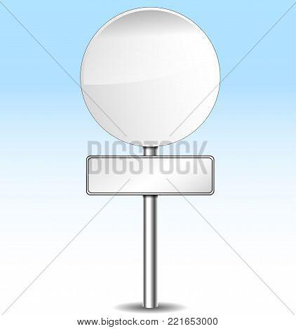 Illustration of blank roadsign on sky background