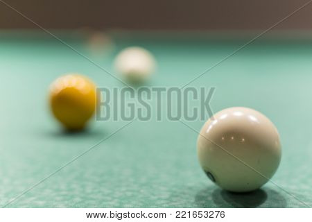 Balls For Billiards On The Table.