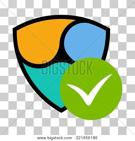 Nem Valid vector pictogram. Illustration style is flat iconic symbol on a chess transparent background.