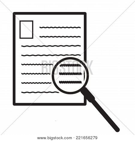 search document icon on white background. file search sign. flat style. archive vector symbol. document with search icon.