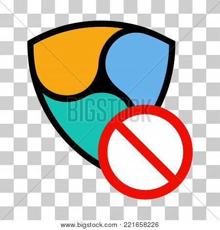 Nem Restricted vector icon. Illustration style is flat iconic symbol on a chess transparent background.